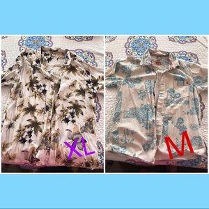 Other - Aloha  2 men's Hawaiian 🌺 shirts. XL and M